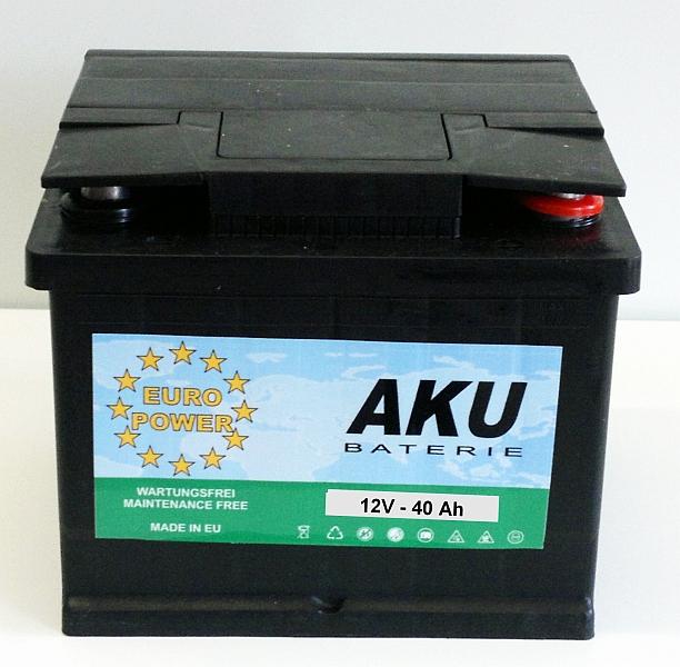 Autobaterie EURO POWER 12V/40 Ah - pravá