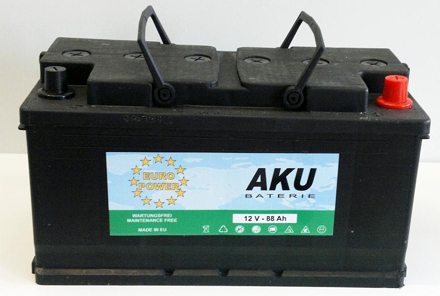 Autobaterie EURO POWER 12V/88 Ah - pravá