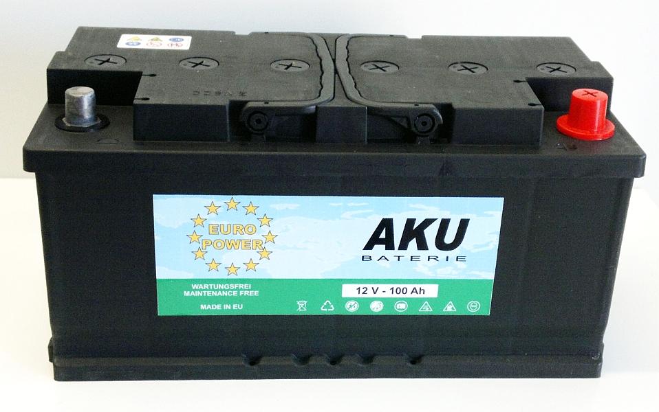 Autobaterie EURO POWER 12V/100 Ah - pravá